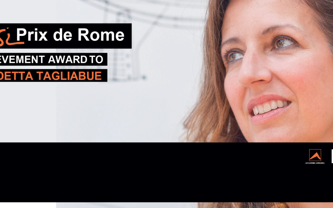 RINVIATO – IL PIRANESI PRIX DE ROME ALLA CARRIERA 2020 ALLO STUDIO SPAGNOLO EMBT – BENEDETTA TAGLIABUE